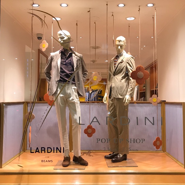 LARDINI POP UP SHOP本日から。