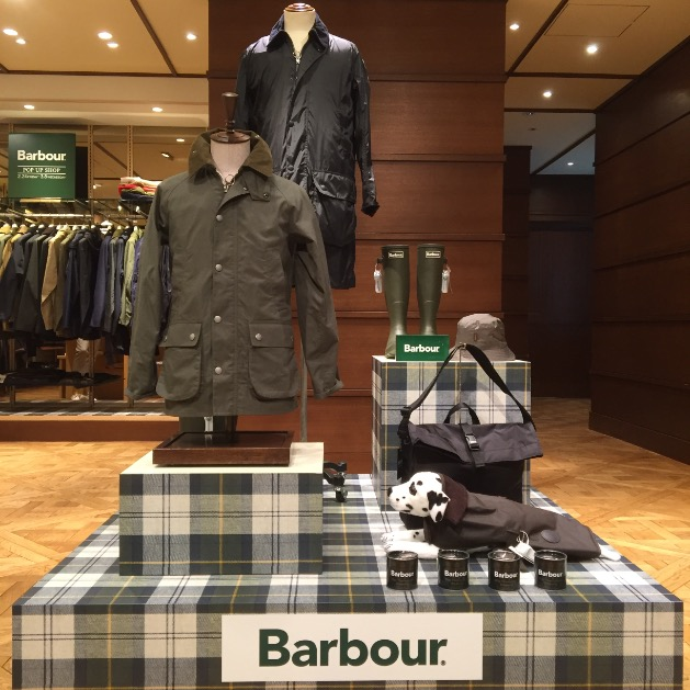 Barbour POP UP SHOP最終日です!