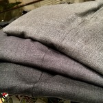 GREY WOOL TROUSERS