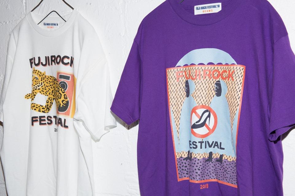 9312e09e1 FUJI ROCK FESTIVAL '18 official T-shirt by BEAMS | NEWS | BEAMS