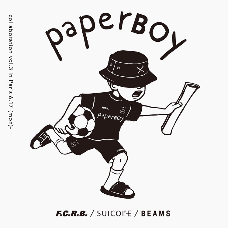01f0701363a PAPERBOY × BEAMS join forces for the 3rd time. Guest collaborators are  F.C.R.B. and SUICOKE