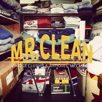 "VINTAGE CLOTHES POP UP by ""MR.CLEAN"""